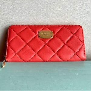 MICHAEL KORS Coral Quilted Wallet - NWOT